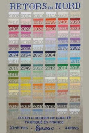 Complete Retors du Nord Embroidery Thread Collection -- 96 Colors