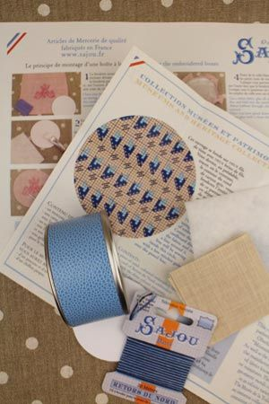 Mignonnette Blue Cross Stitch Kit