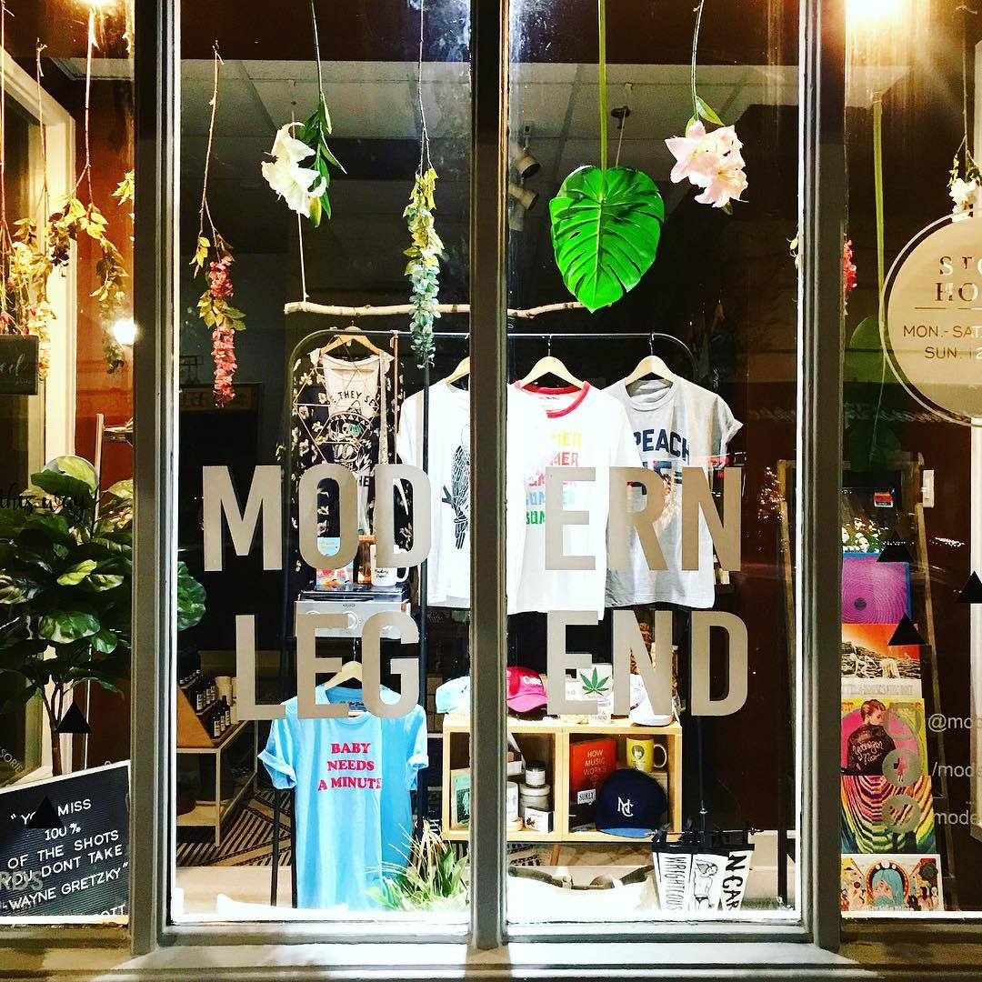 modern legend store front Wilmington North Carolina