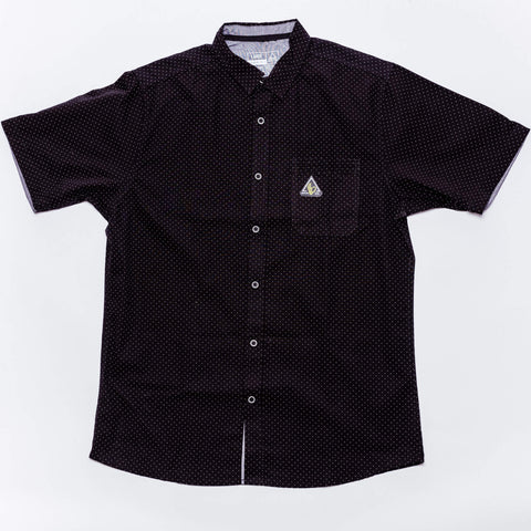 POPLIN BUTTON UP: BLACK