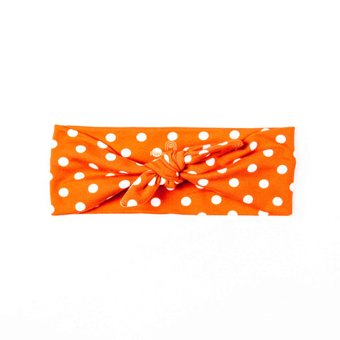 RED POLKA DOT PEACE HEADBAND