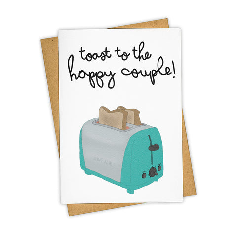 TOAST TO THE HAPPY COUPLE CARD