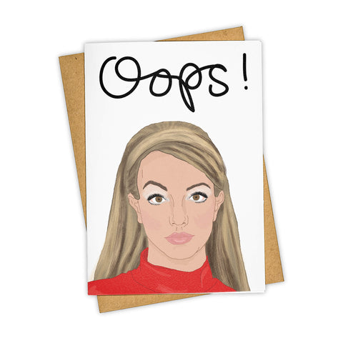 OOPS! BRITNEY SPEARS CARD