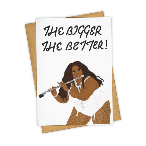 LIZZO FLUTE CARD