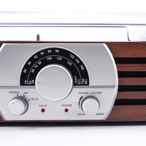 Jensen JTA-222 3-Speed Turntable (AM/FM Receiver)