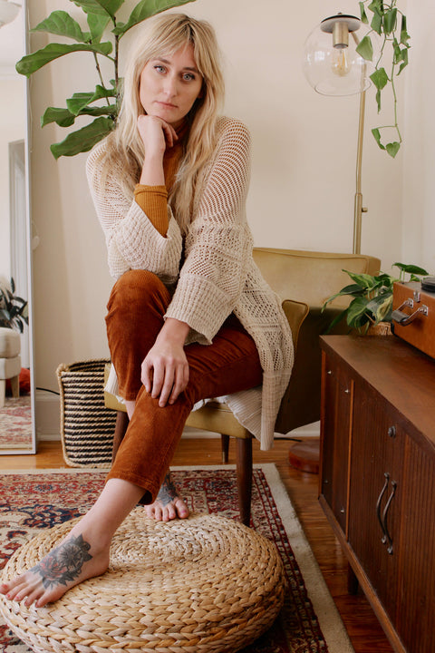CREAM KNIT CARDIGAN