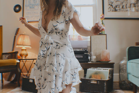 FLORAL RIBBON DRESS