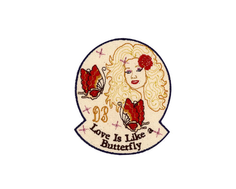 "DOLLY ""LOVE IS LIKE A BUTTERFLY"" PATCH"