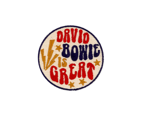 DAVID BOWIE IS GREAT PATCH