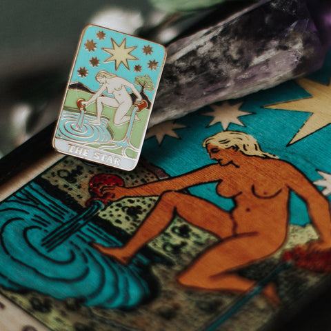The Star Card Pin