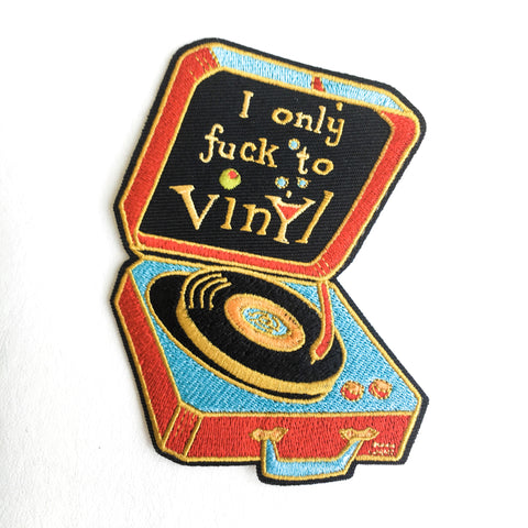 I Only Fuck To Vinyl Patch