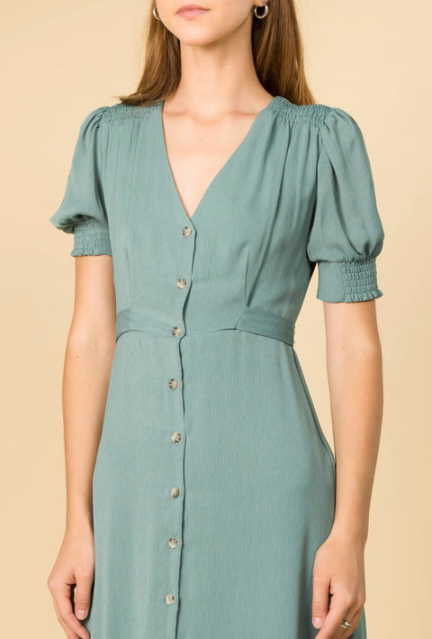 SPEARMINT AUTUMN MIDI DRESS