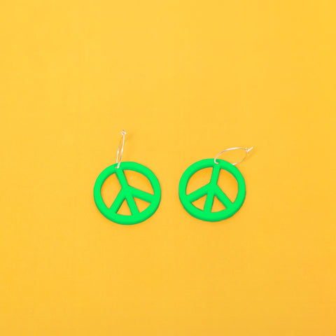 MIND FLOWERS - GREEN PEACE EARRINGS