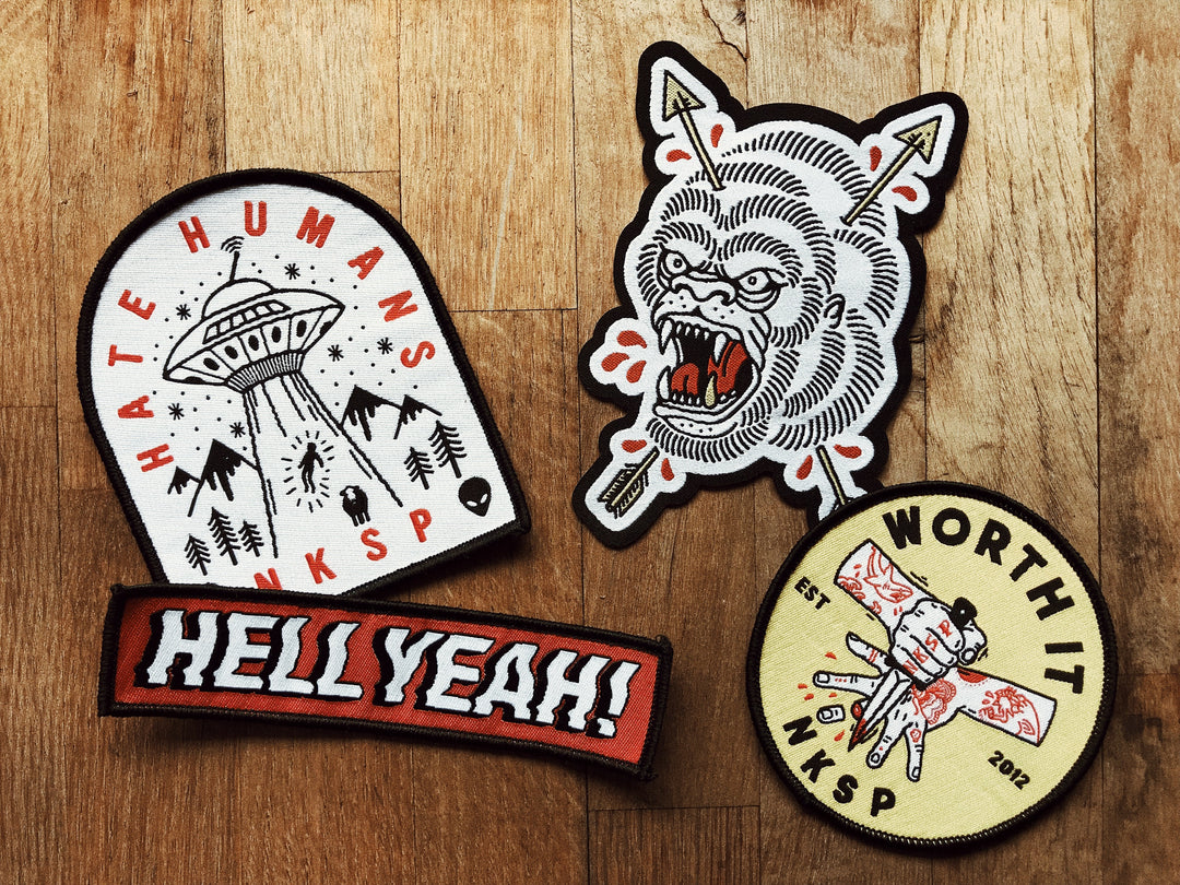 FREE PATCHES WITH EVERY ODER