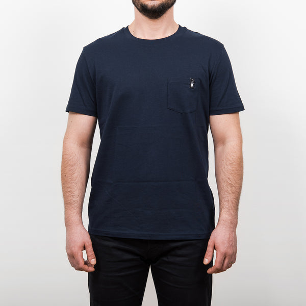 Knife Pocket Tee Navy