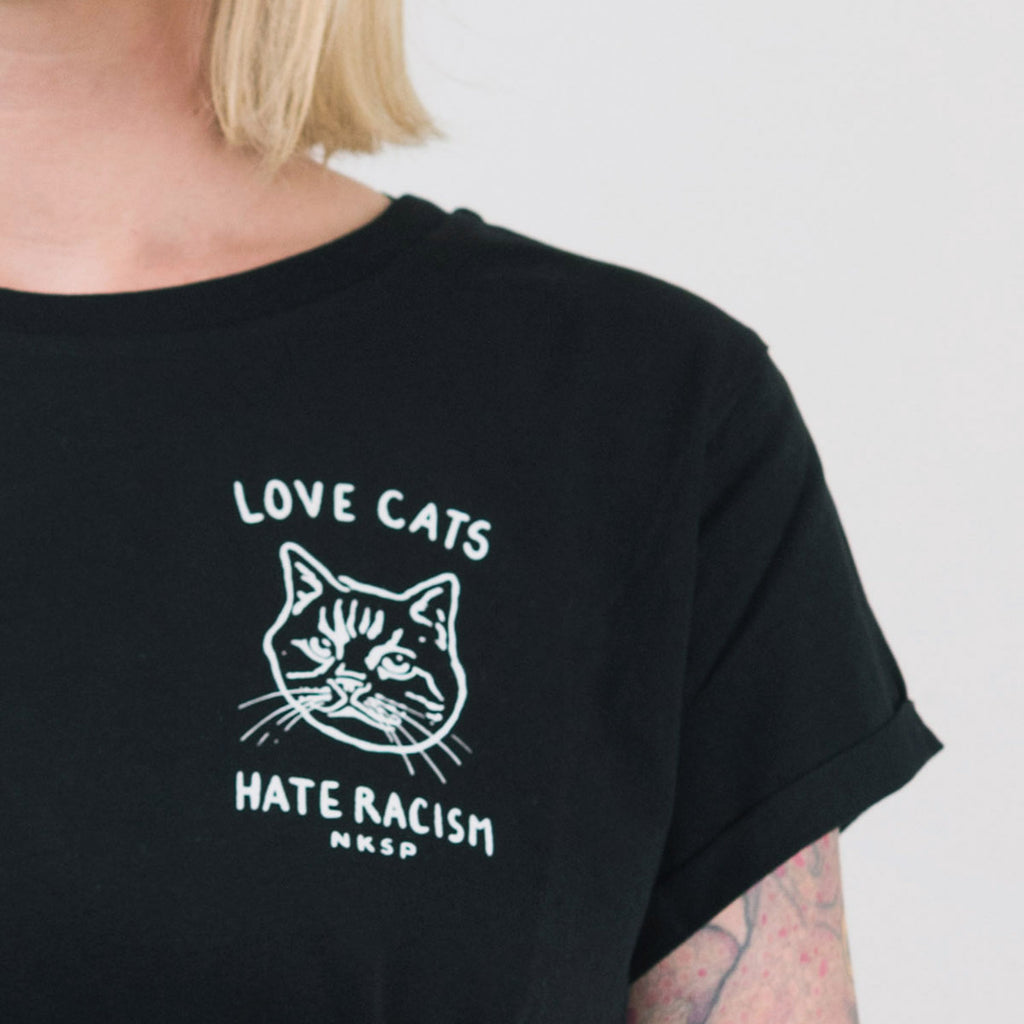 Love Cats Hate Racism Women's