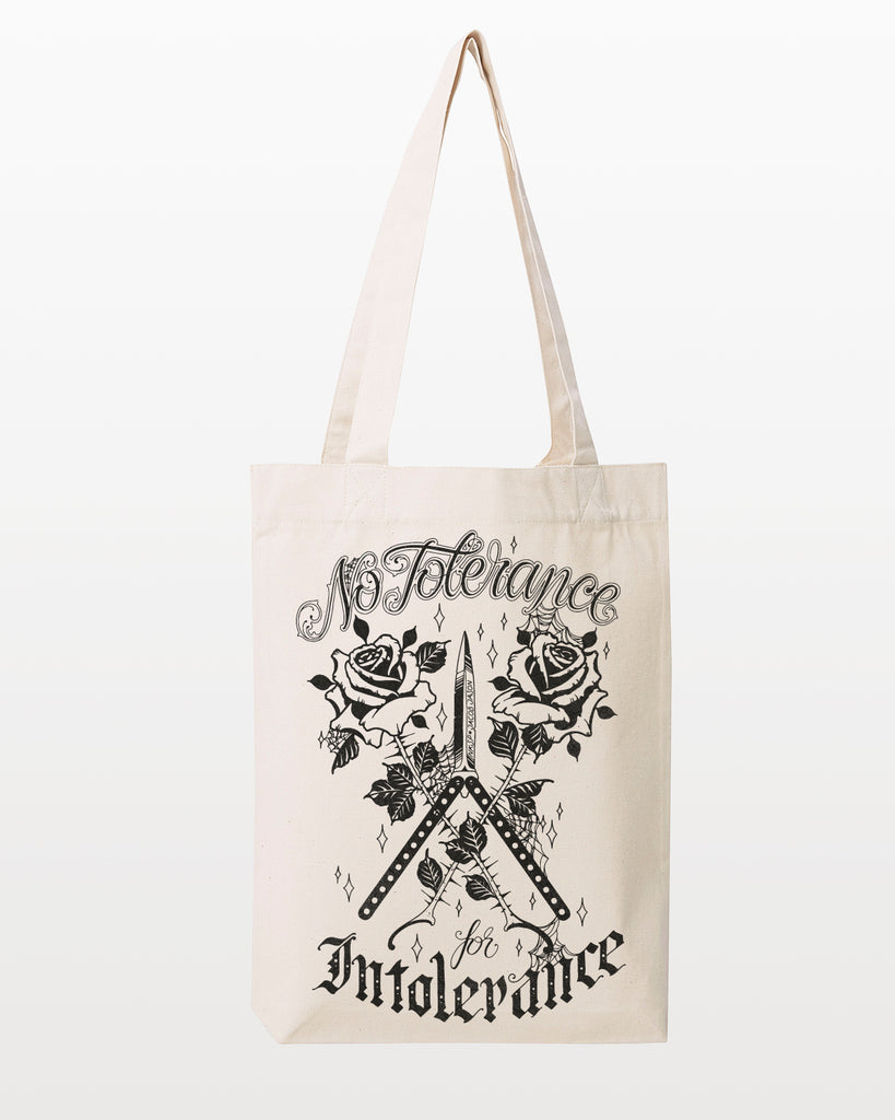 NO TOLERANCE FOR INTOLERANCE TOTE by Jacob Jason