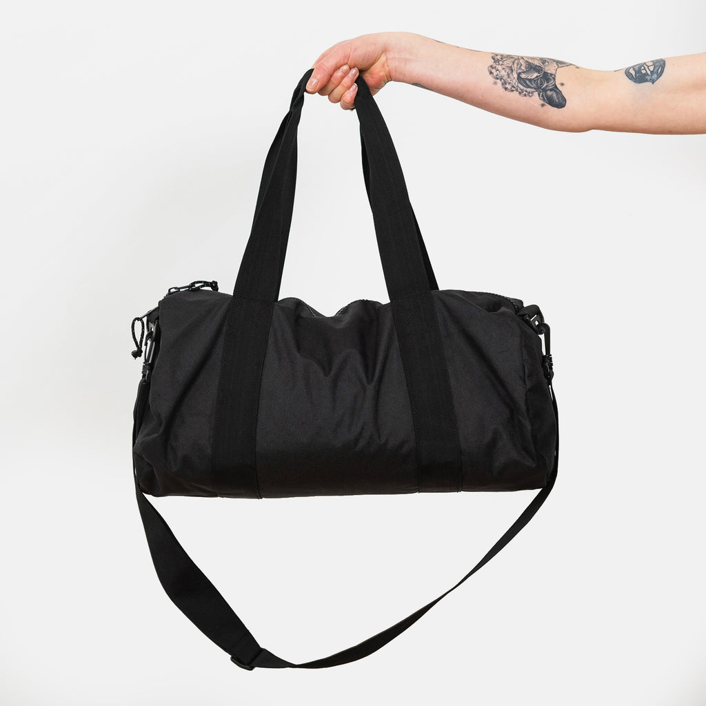 Embroidered Barrel Bag