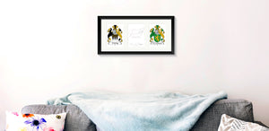 Personalised Irish Family Crest print