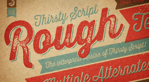 Thirsty Rough Free Font