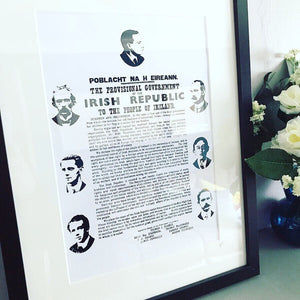 Irish Proclamation Foil Print