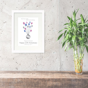 Personalised Print - Anniversary Fingerprint Gift - Oregano Designs