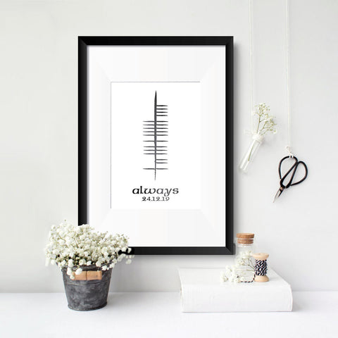 Ogham Foil Personalised Print - Single