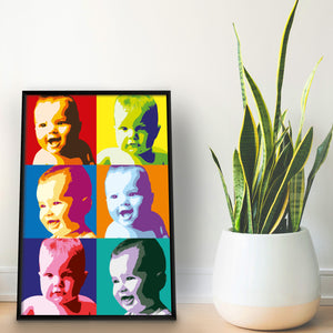 Personalised Pop Art Inspired Print - Three Images