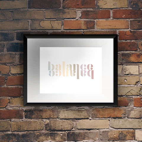 'Balance' Reflection Foil Print - Oregano Designs