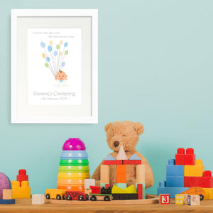 Personalised Print - Christening Fingerprint Gift - Oregano Designs