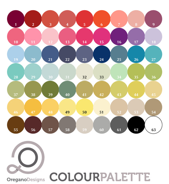 Oregano Designs Colour Palette