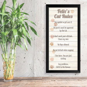 Personalised Cat Rules Print - Oregano Designs
