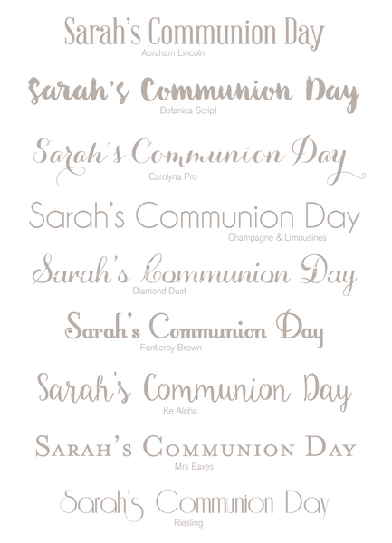 Communion Fingerprint fonts