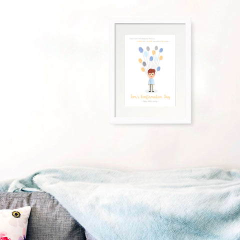Personalised Print - Confirmation Fingerprint Gift - Oregano Designs