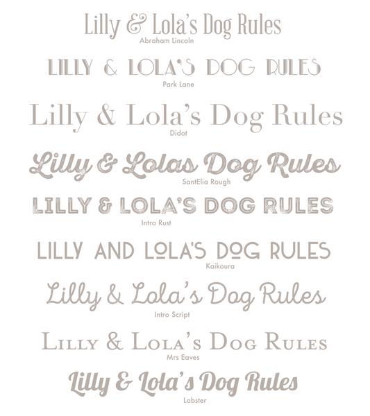 Personalised Dog Rules Print - Oregano Designs