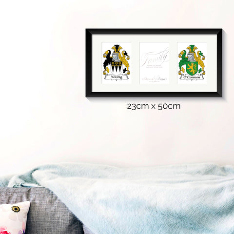 Personalised Print - Irish Family Crest - Oregano Designs