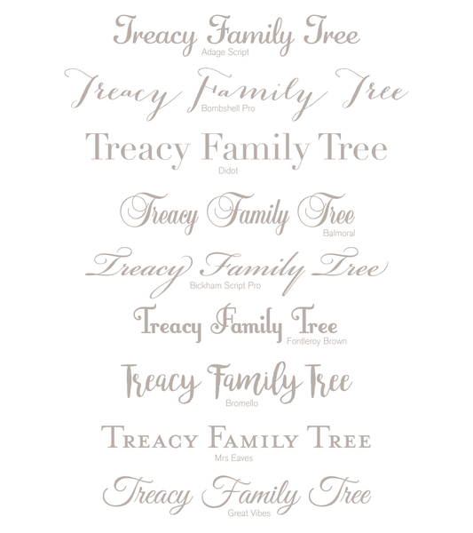 Personalised Print - Family Fingerprint Tree - Oregano Designs