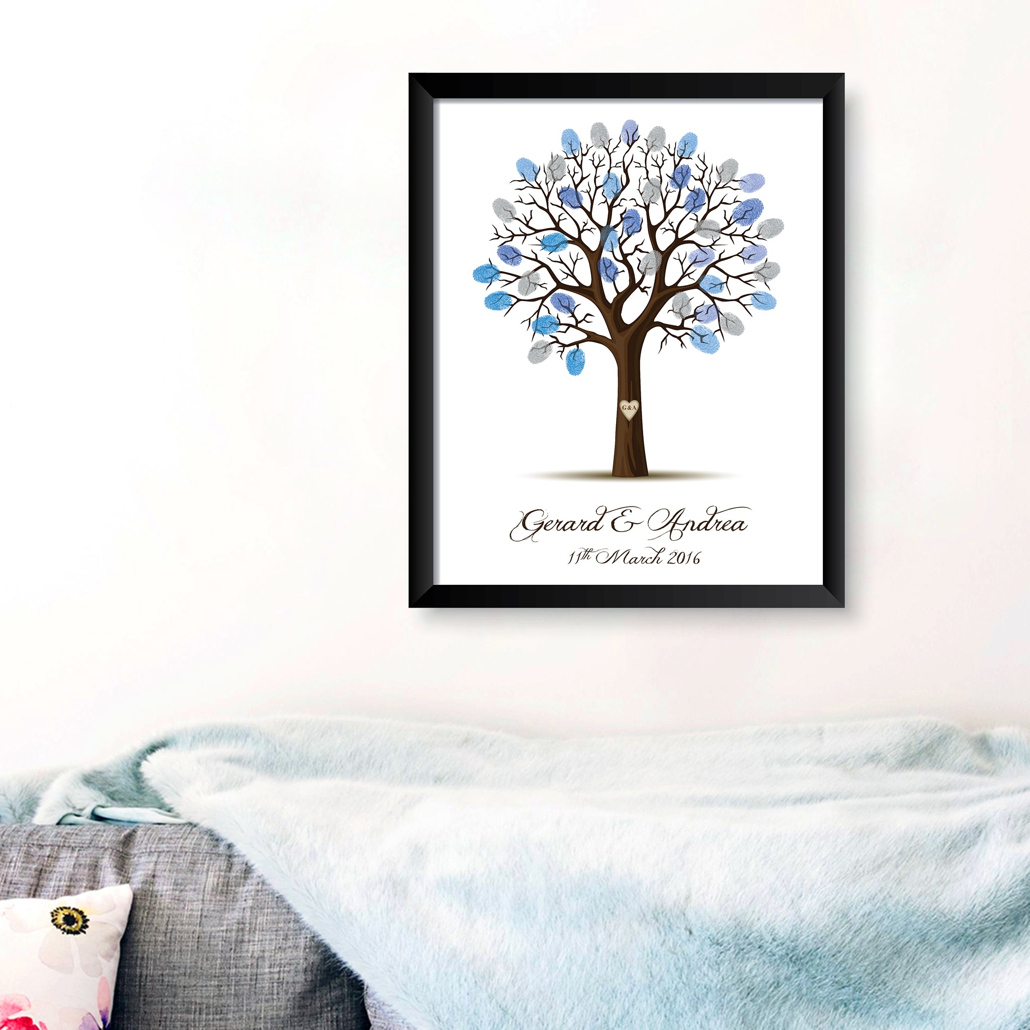 Personalised Print - Wedding Fingerprint Tree - Oregano Designs