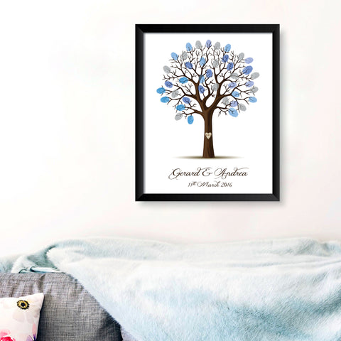Personalised Print - Wedding Fingerprint Tree