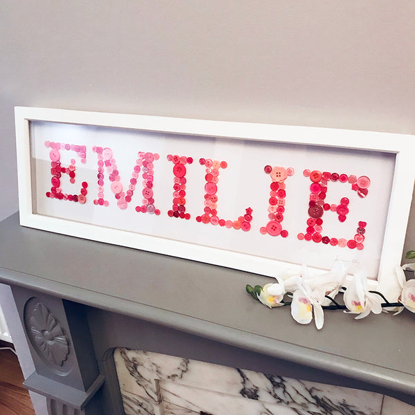 Baby Button Names - All-in-One Personalised Frame
