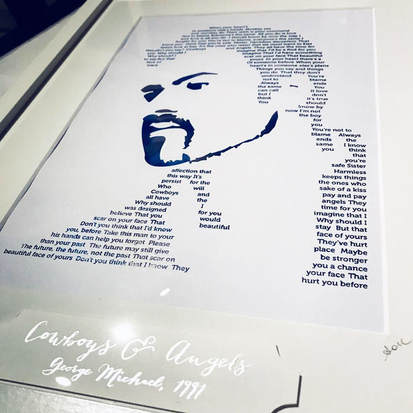 George Michael 'Cowboys & Angels' Foil Personalised Print