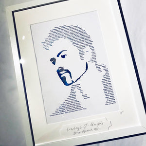 George Michael 'Cowboys & Angels' Foil Personalised Print - Oregano Designs