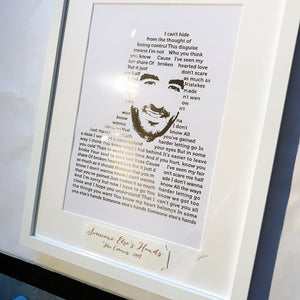 The Coronas 'Someone Else's Hands' Lyric Foil Personailsed Print