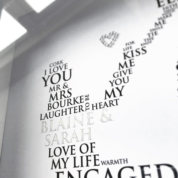 Personalised Print - Engagement Word Art