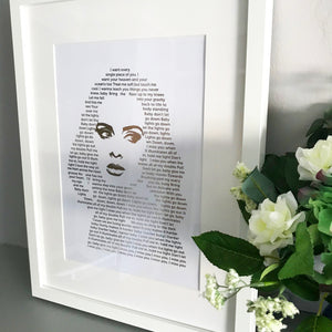 Adele Lyric Foil Print - Oregano Designs