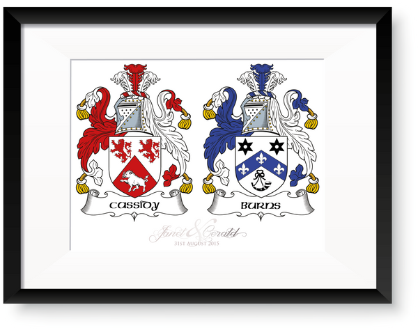 Cassidy & Burns Personalised Irish Family Crest