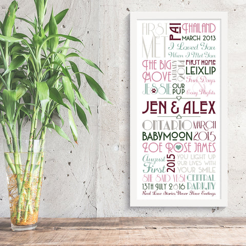 Jen & Alex Personalised Engagement Timeline