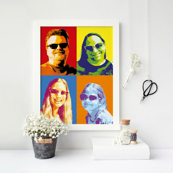 Personalised Print - Pop Art Montage - Four Images + - Oregano Designs