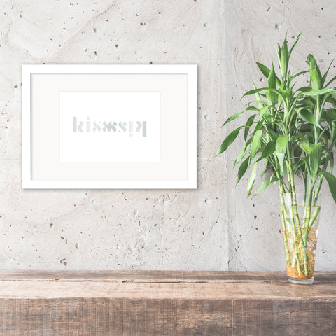 'Kiss' Reflection Foil Print - Oregano Designs