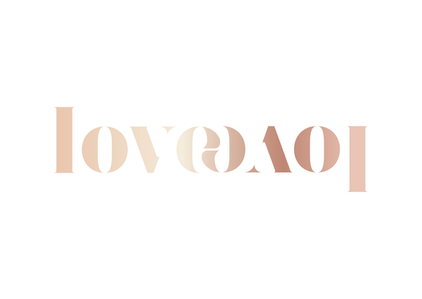 'Love' Reflection Foil Print - Oregano Designs